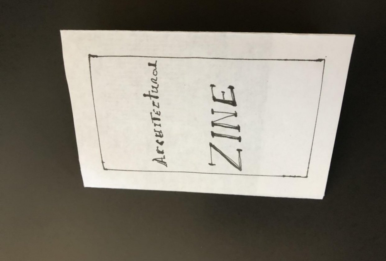 My first zine - student project