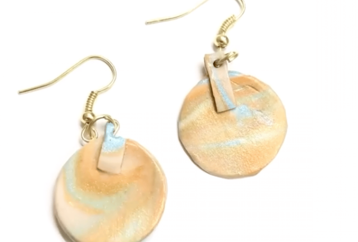 Polymer Clay Earring - student project