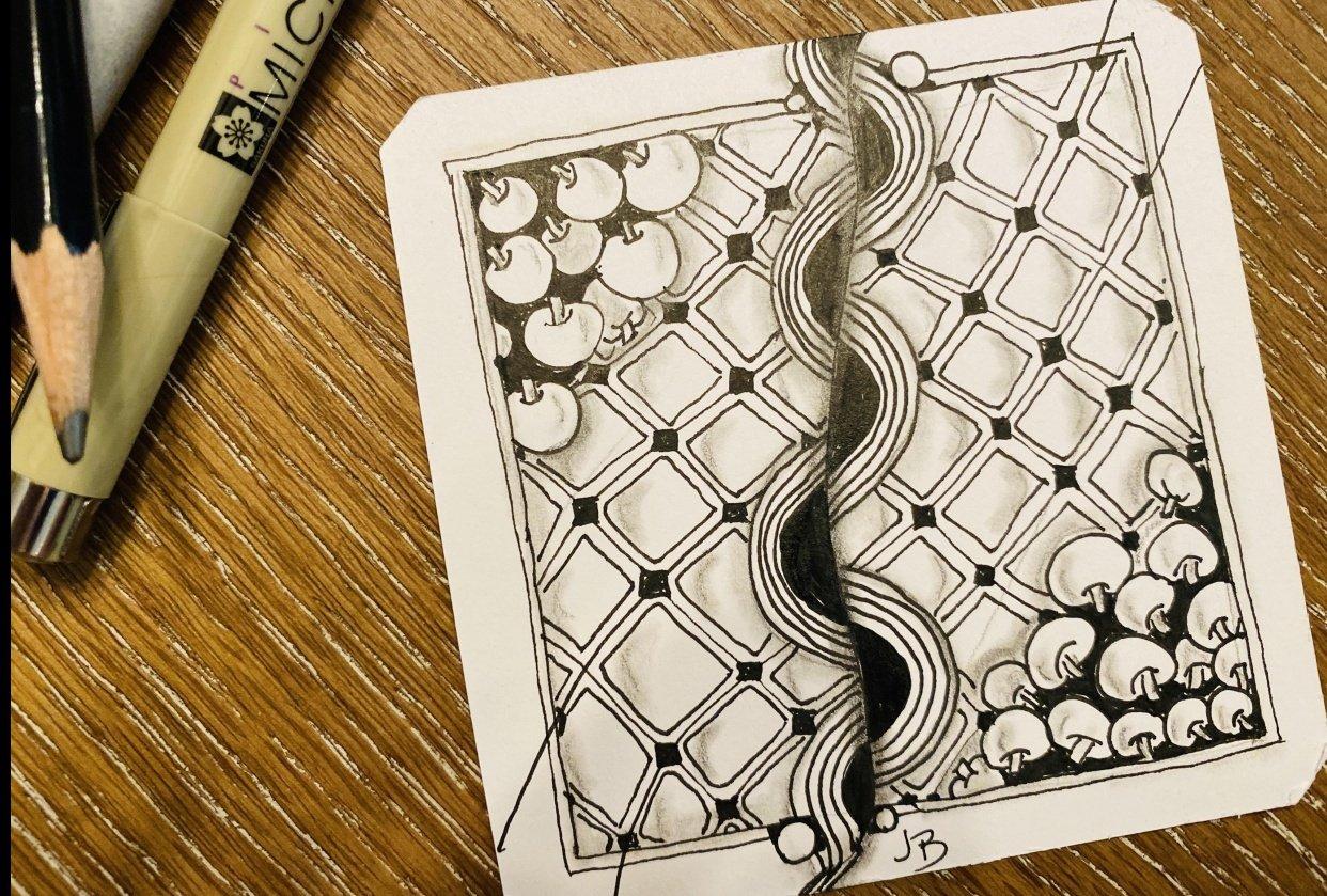 Zentangle Practice - student project