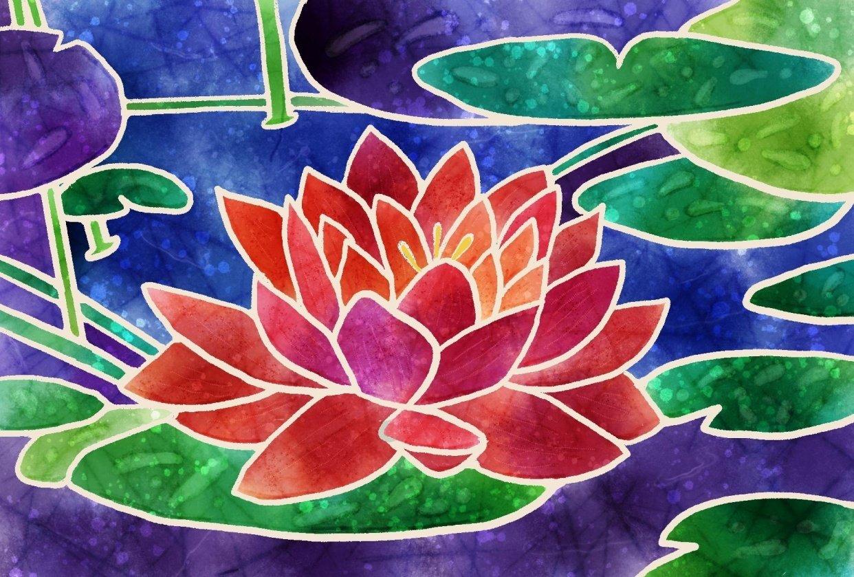 Batik Lotus Flower - student project