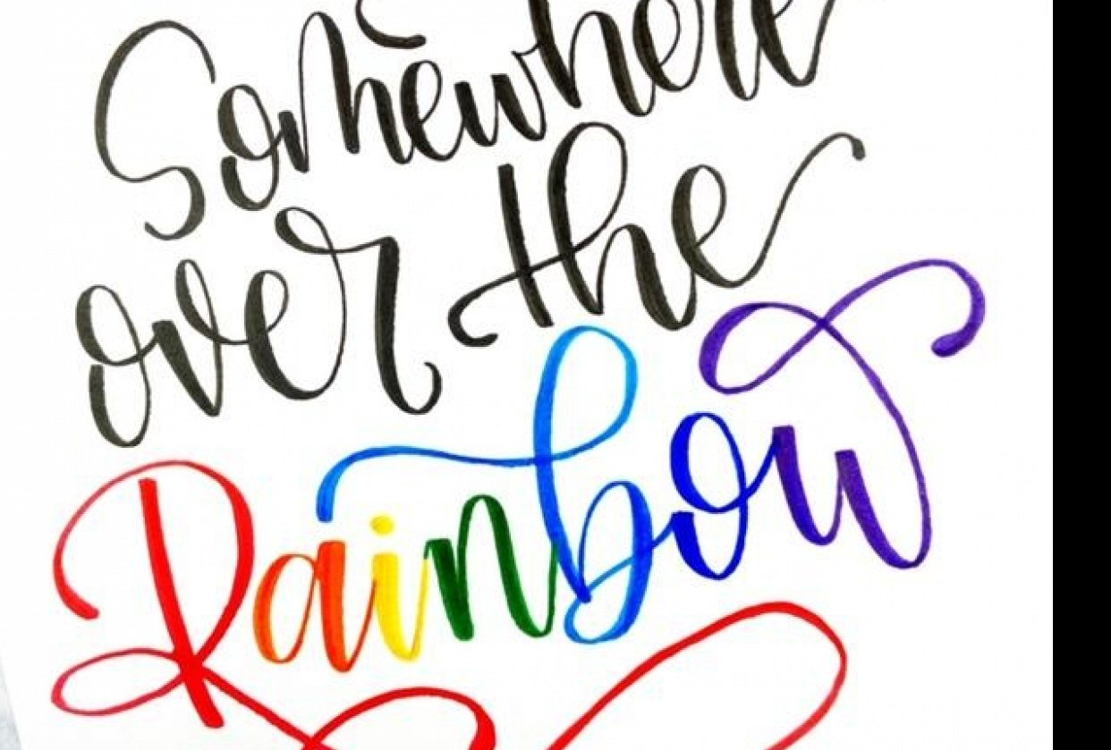 Rainbow Lettering - student project