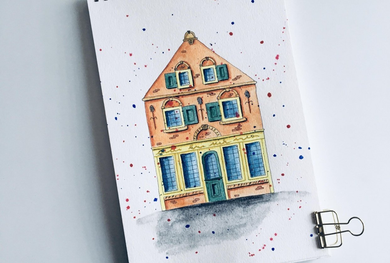 Urban sketching for beginners - student project