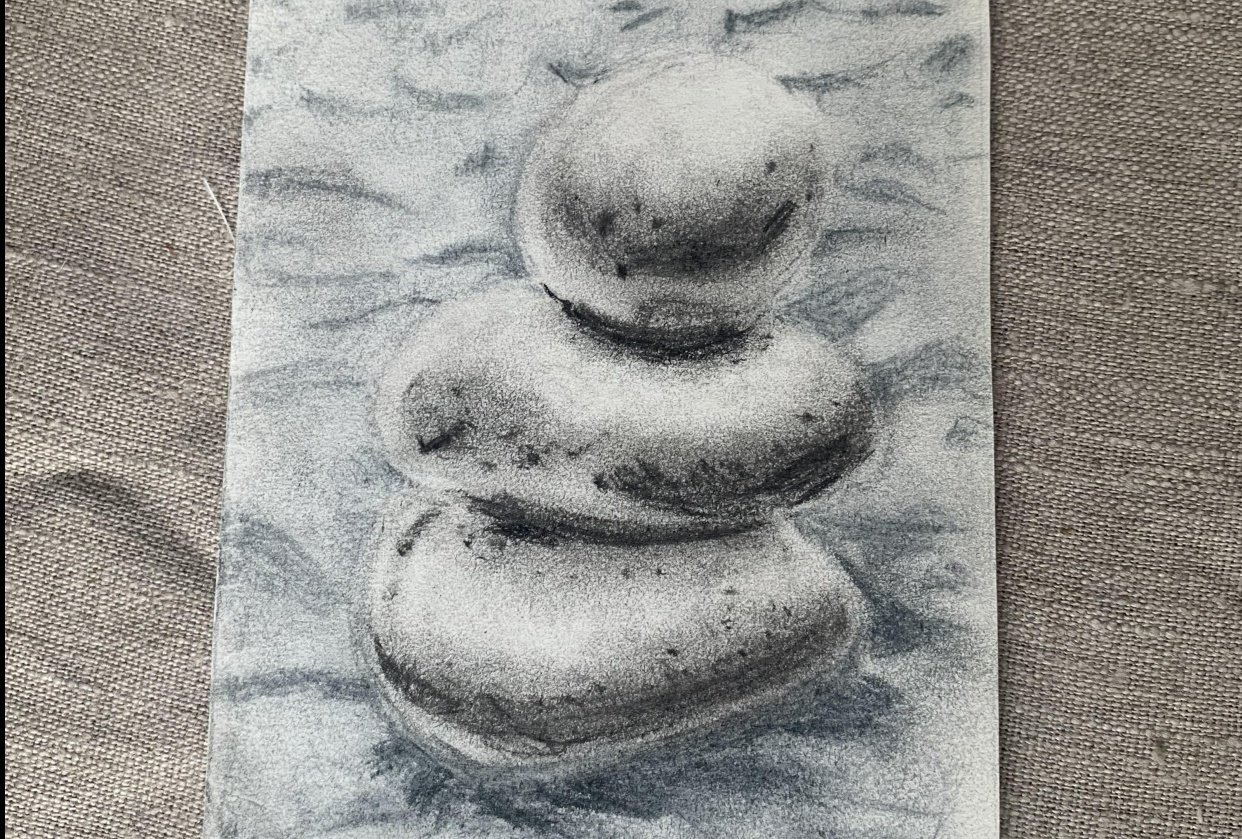 Stones on sand. - student project