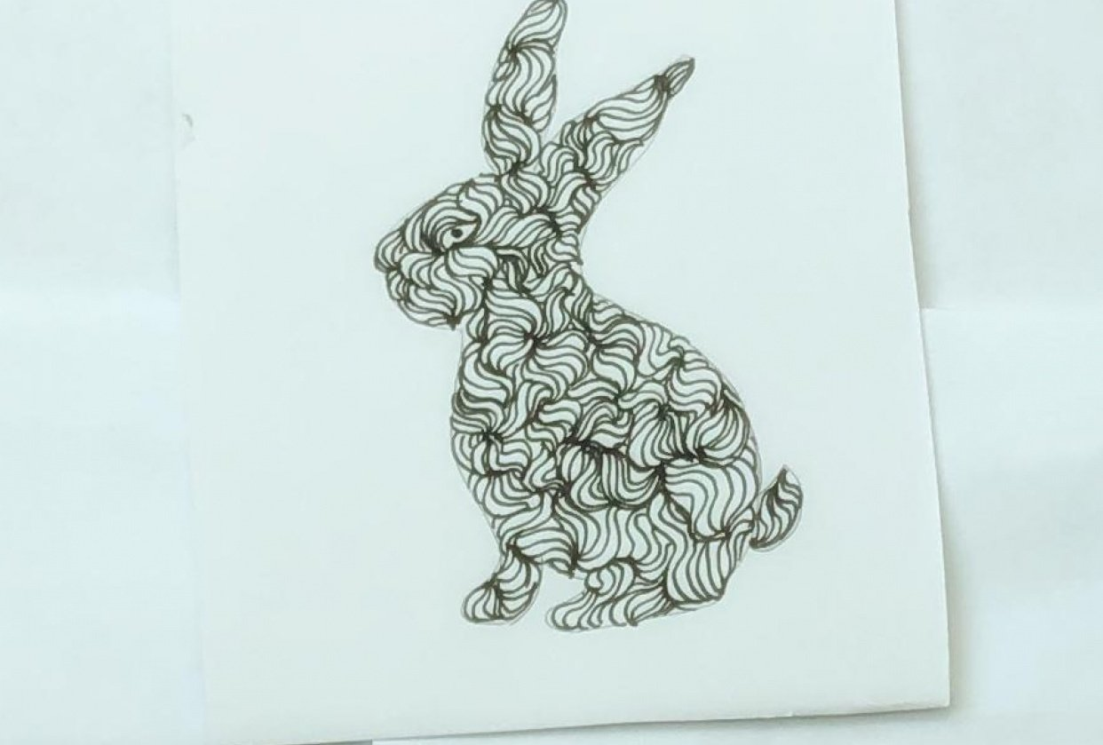Stylized bunny - student project