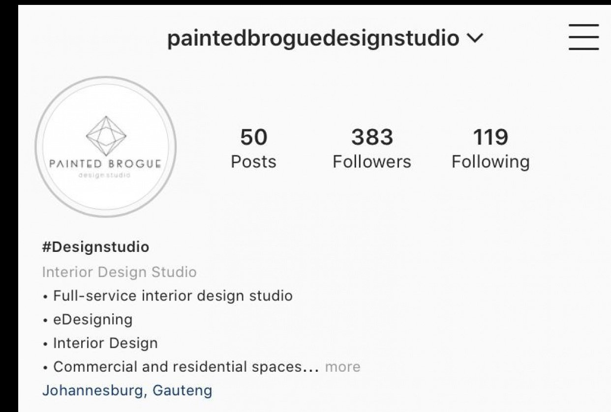 My Updated page :) - Painted Brogue Design Studio - student project