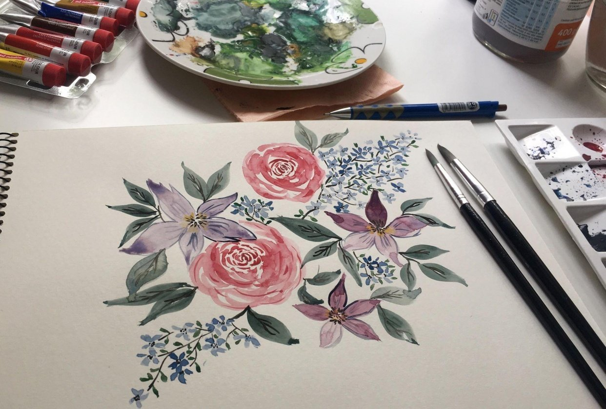 Floral composition - student project