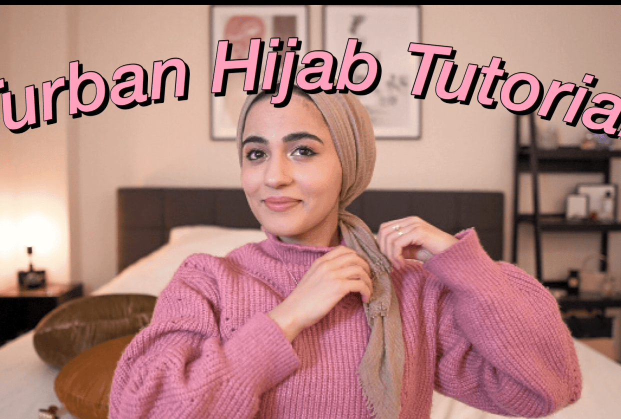 First Youtube video (hijab tutorial) - student project