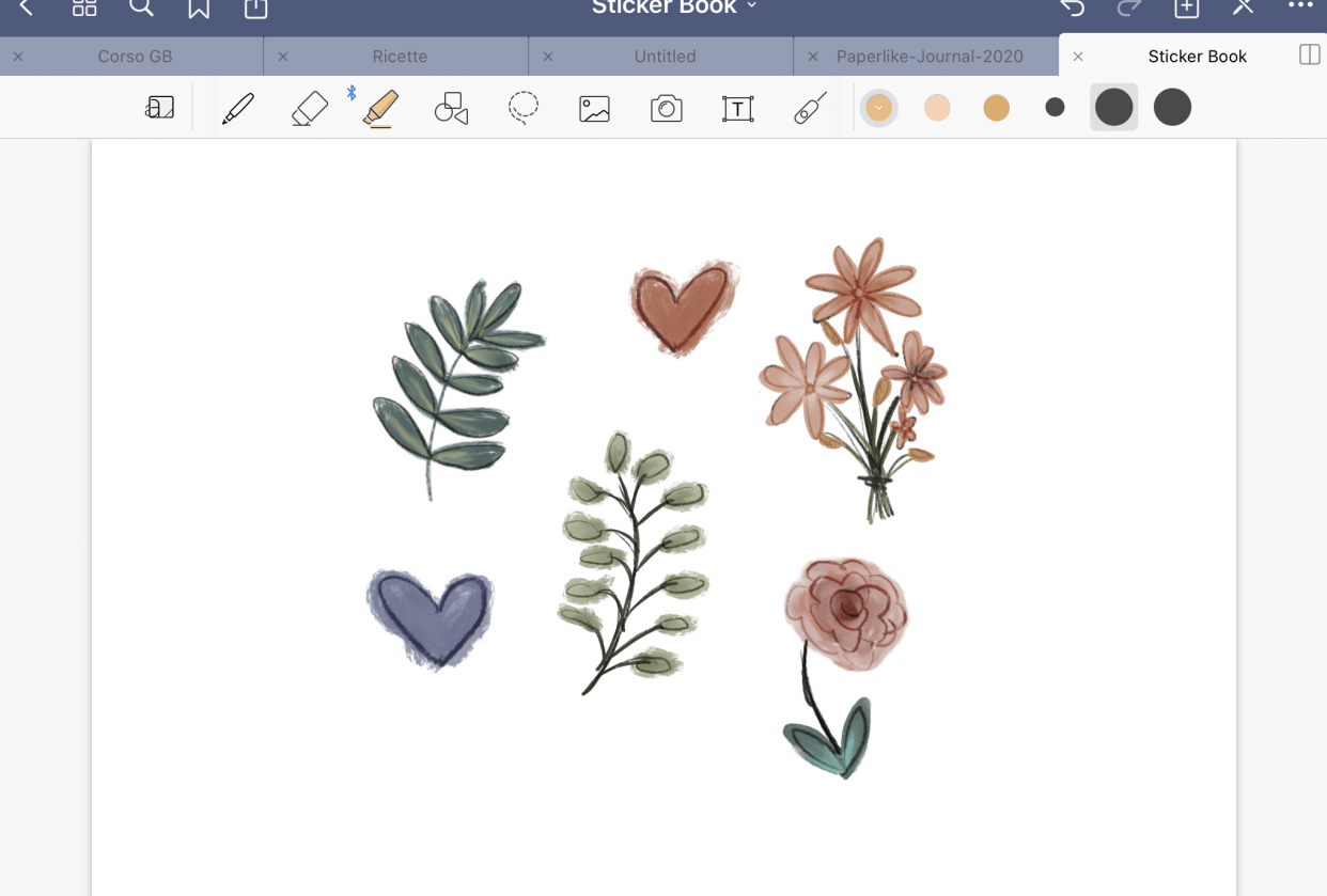 Quick Stickers for GoodNotes - student project