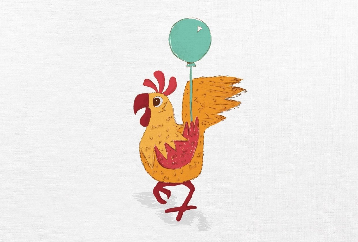 Rooster Illustration - student project