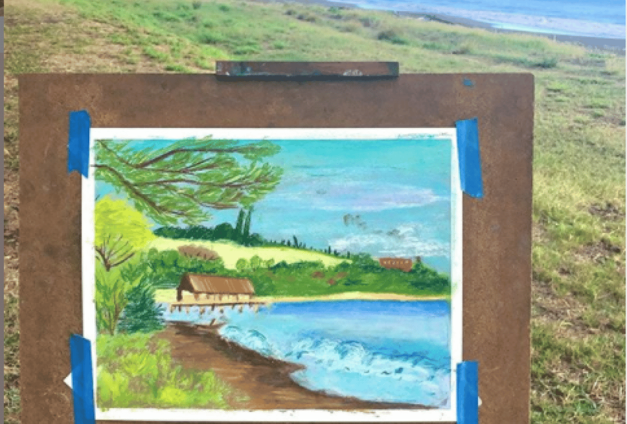 Plein Air Painting with Soft Patels - student project