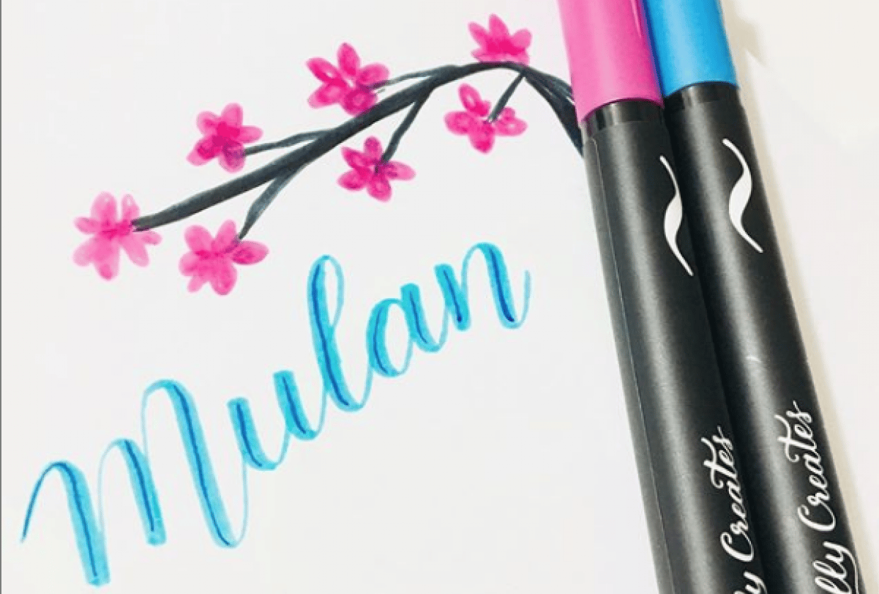 Hand lettering Mulan - student project
