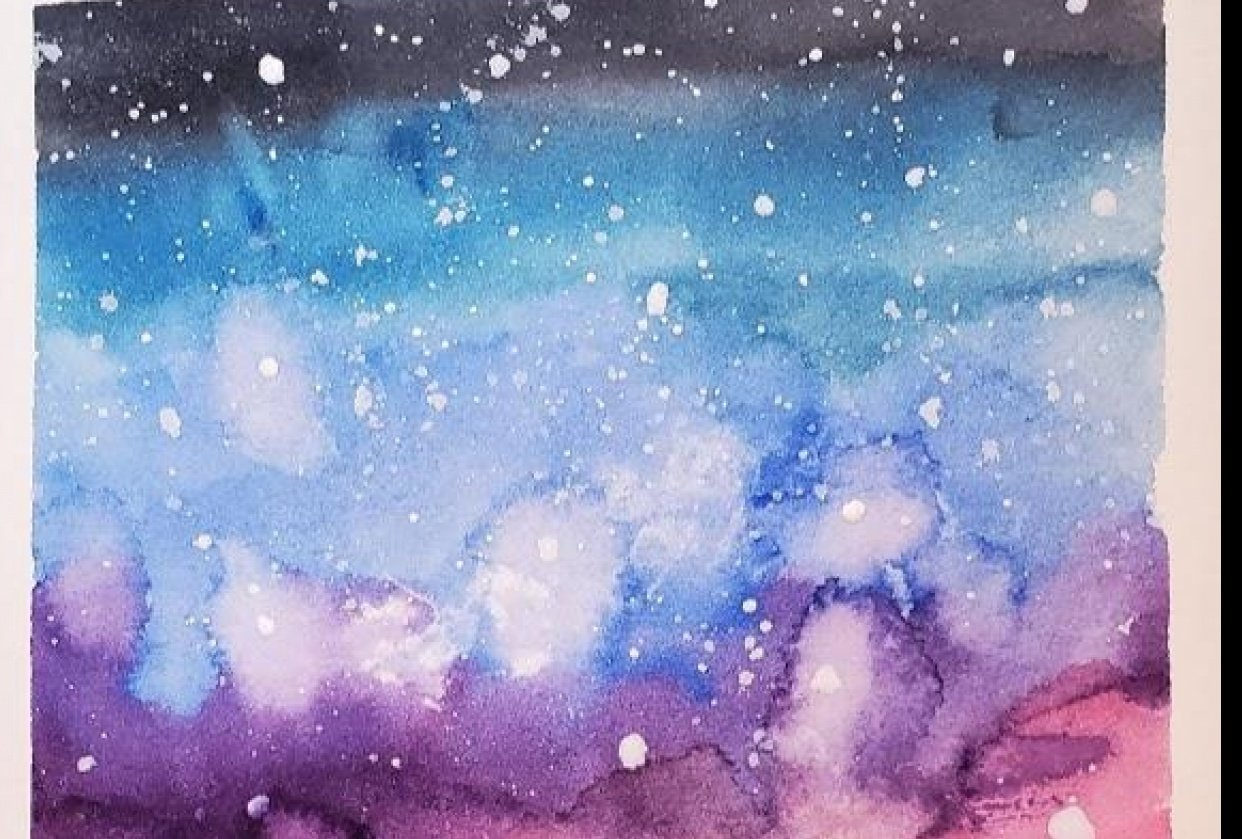 Galaxy with Mountains - student project