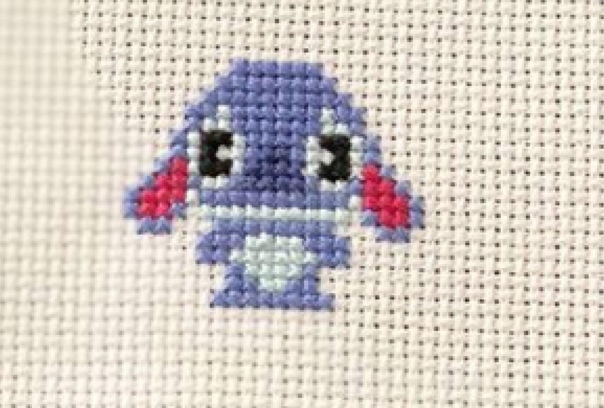 Cross stitched Stitch :D - student project
