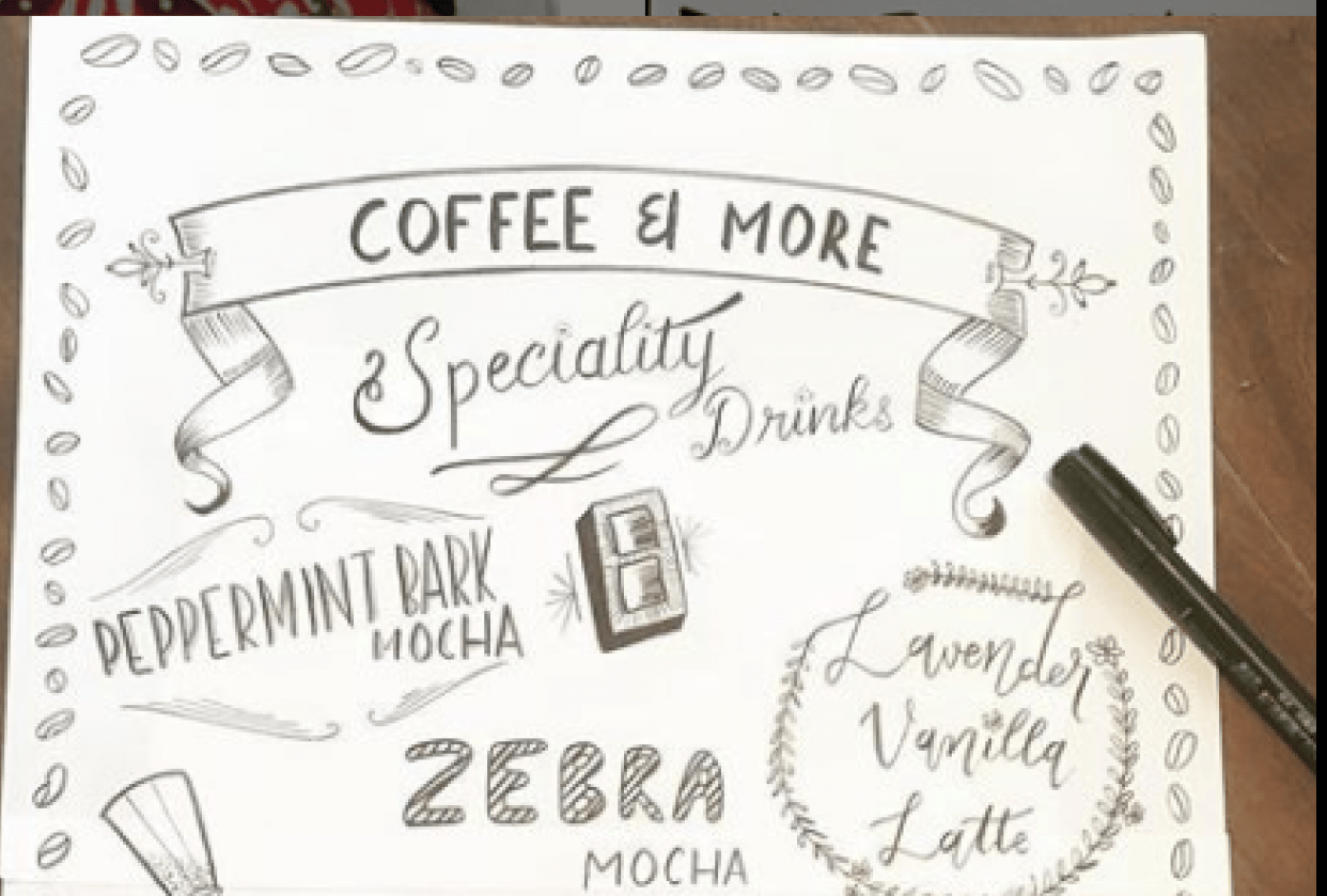 Lettering for Coffee Shops - student project