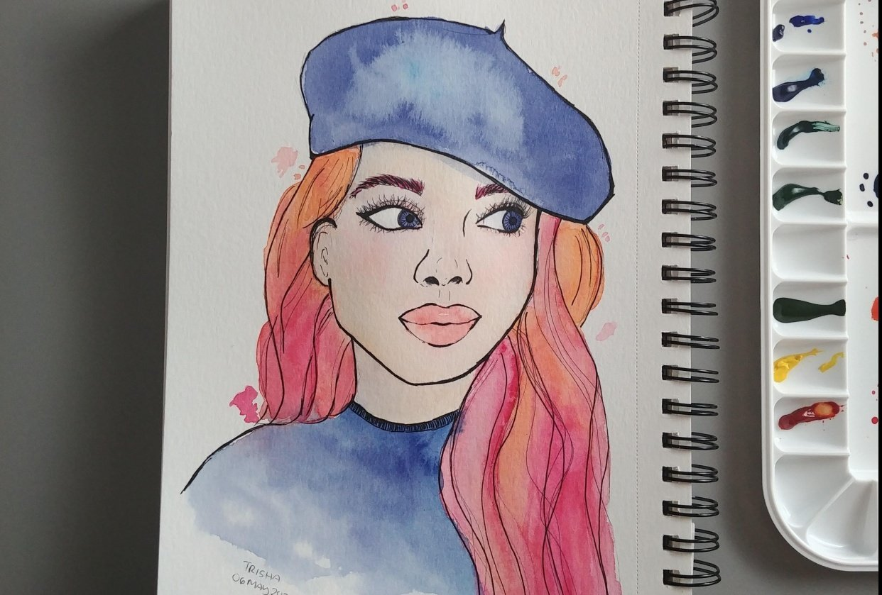First Watercolor Portrait - student project