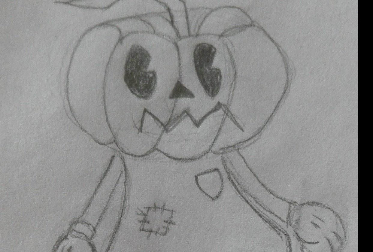 Pumpkin Character - student project
