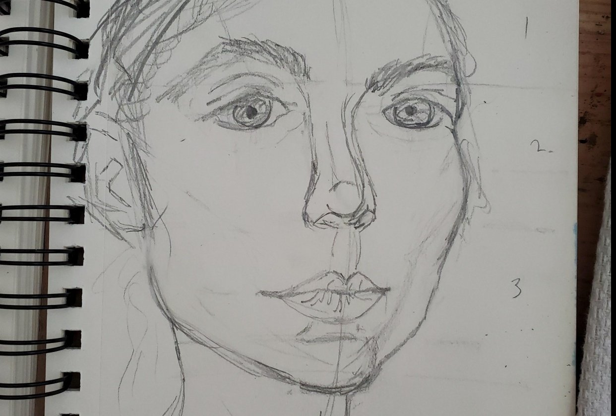 Self Portrait Attempts - student project