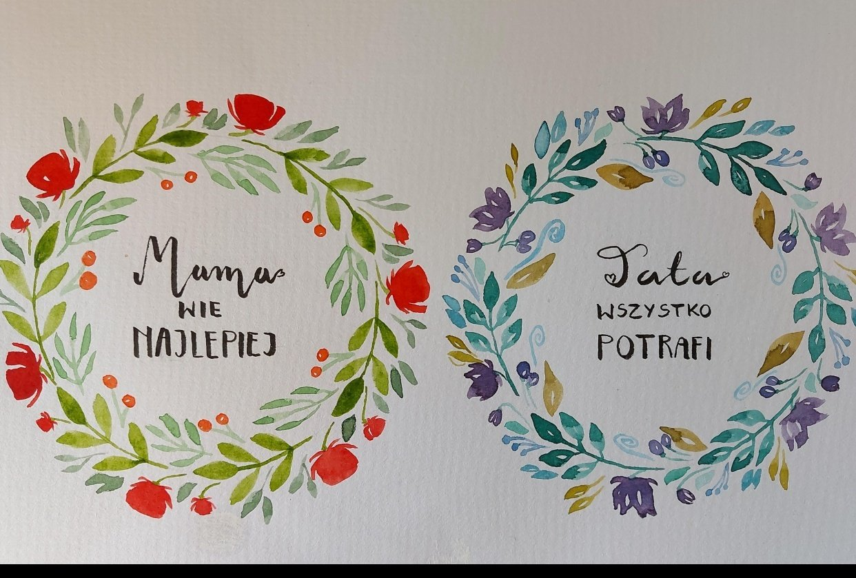 Medium wreaths and little bookmark wreath - student project