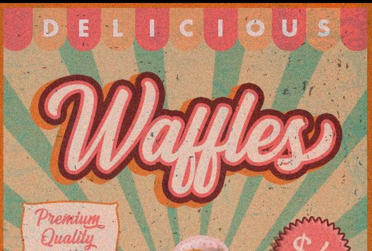 Waffles Retro Poster - student project
