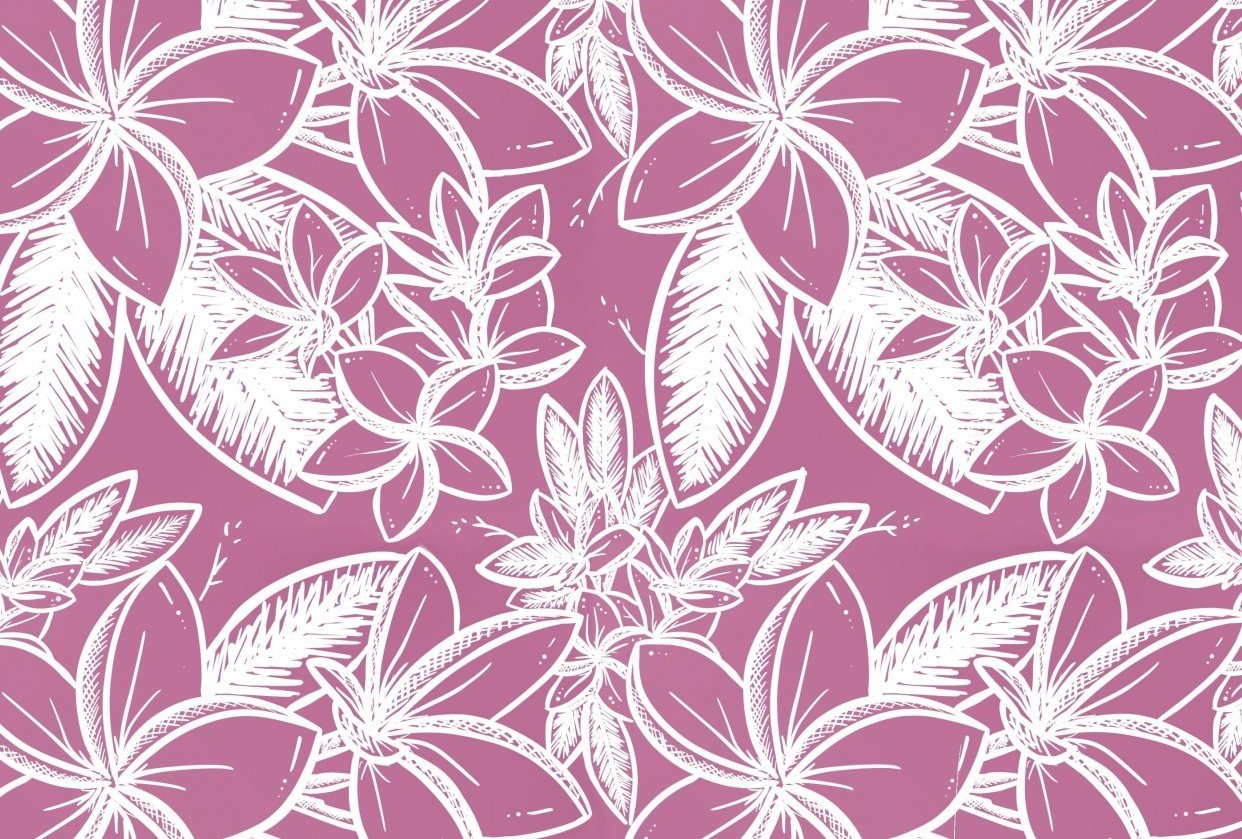 Plumeria - Floral Pattern #1 - student project