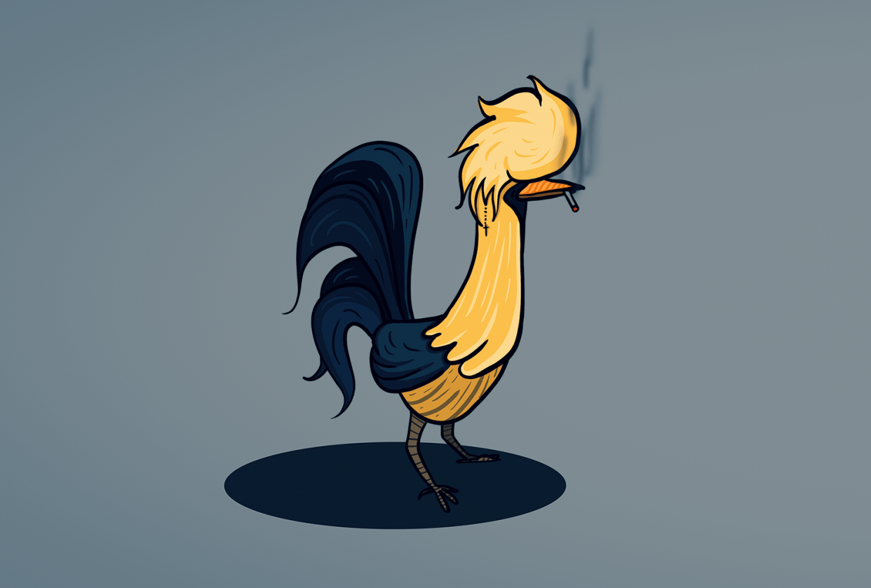 Edgy Polish Rooster - student project