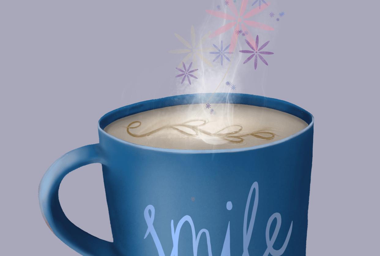 Motivational coffee mug - student project