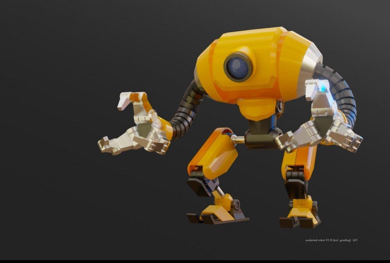 Robot - Blender (3D Modeling and Look Dev.) - student project