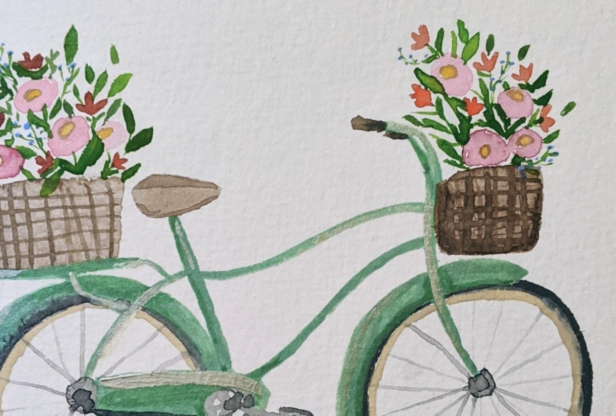 Watercolor bike - student project