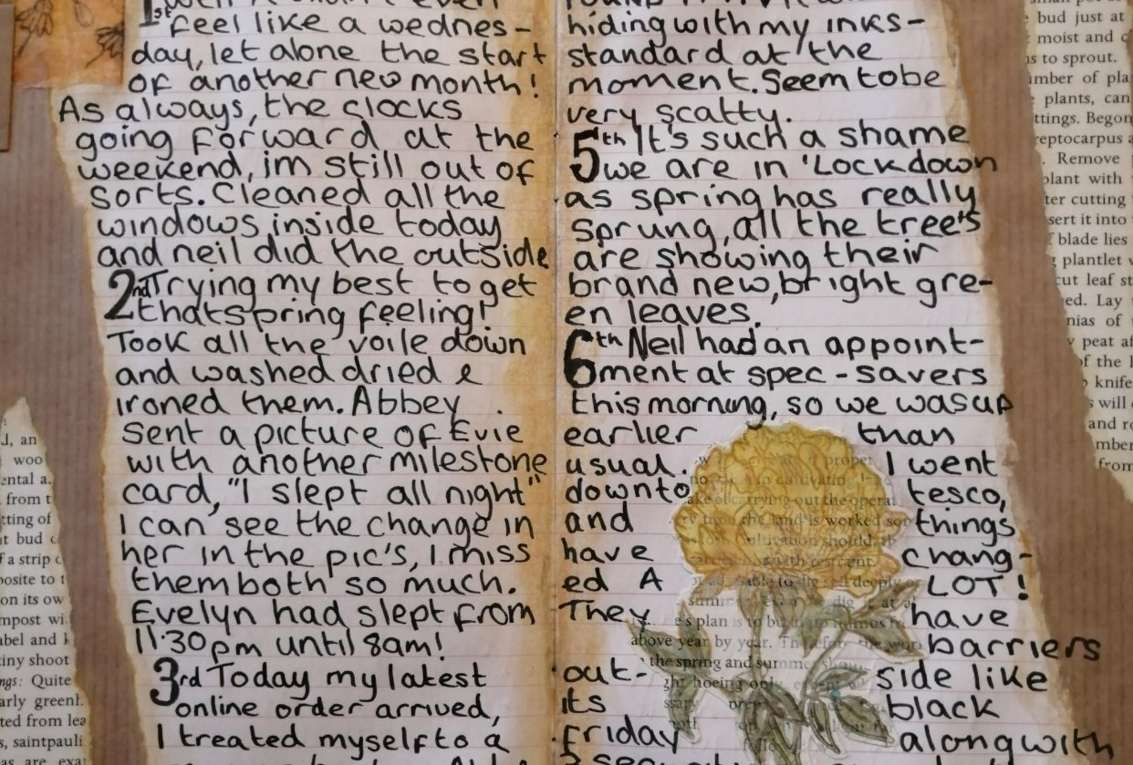 Creative /Dailey journaling - student project