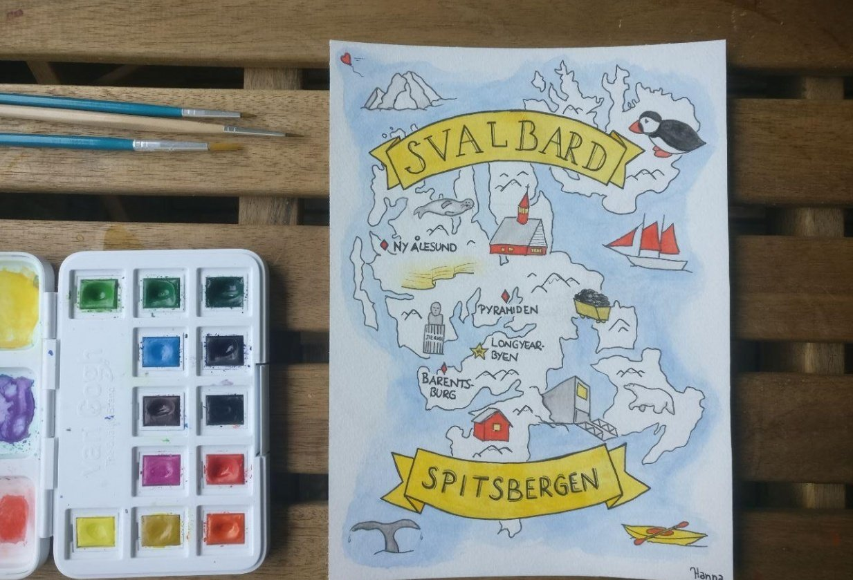 Map of Svalbard - student project