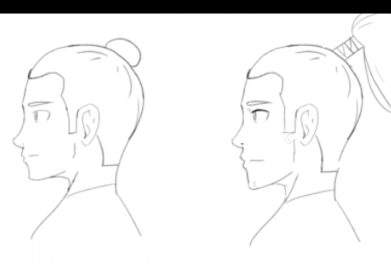 Profile Face Study - student project