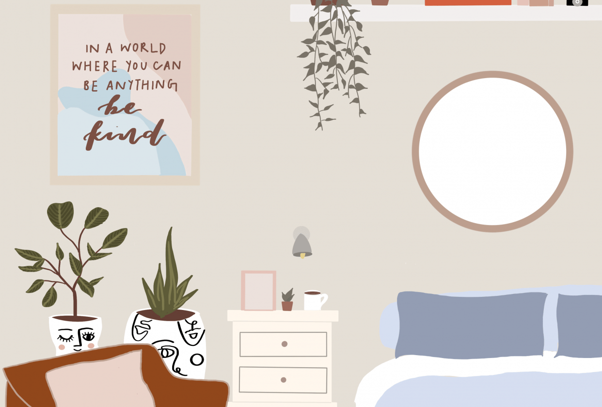 a cozy lil bedroom - student project