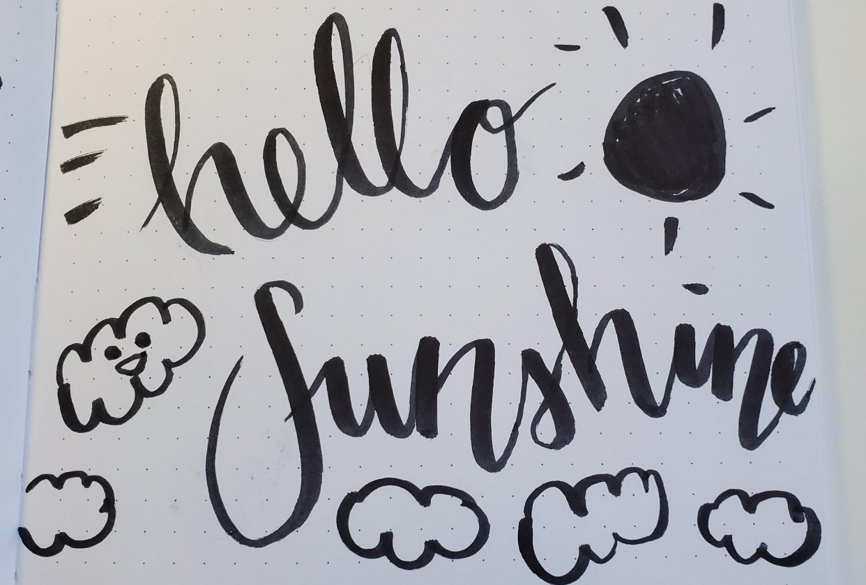 brush lettering basics - student project