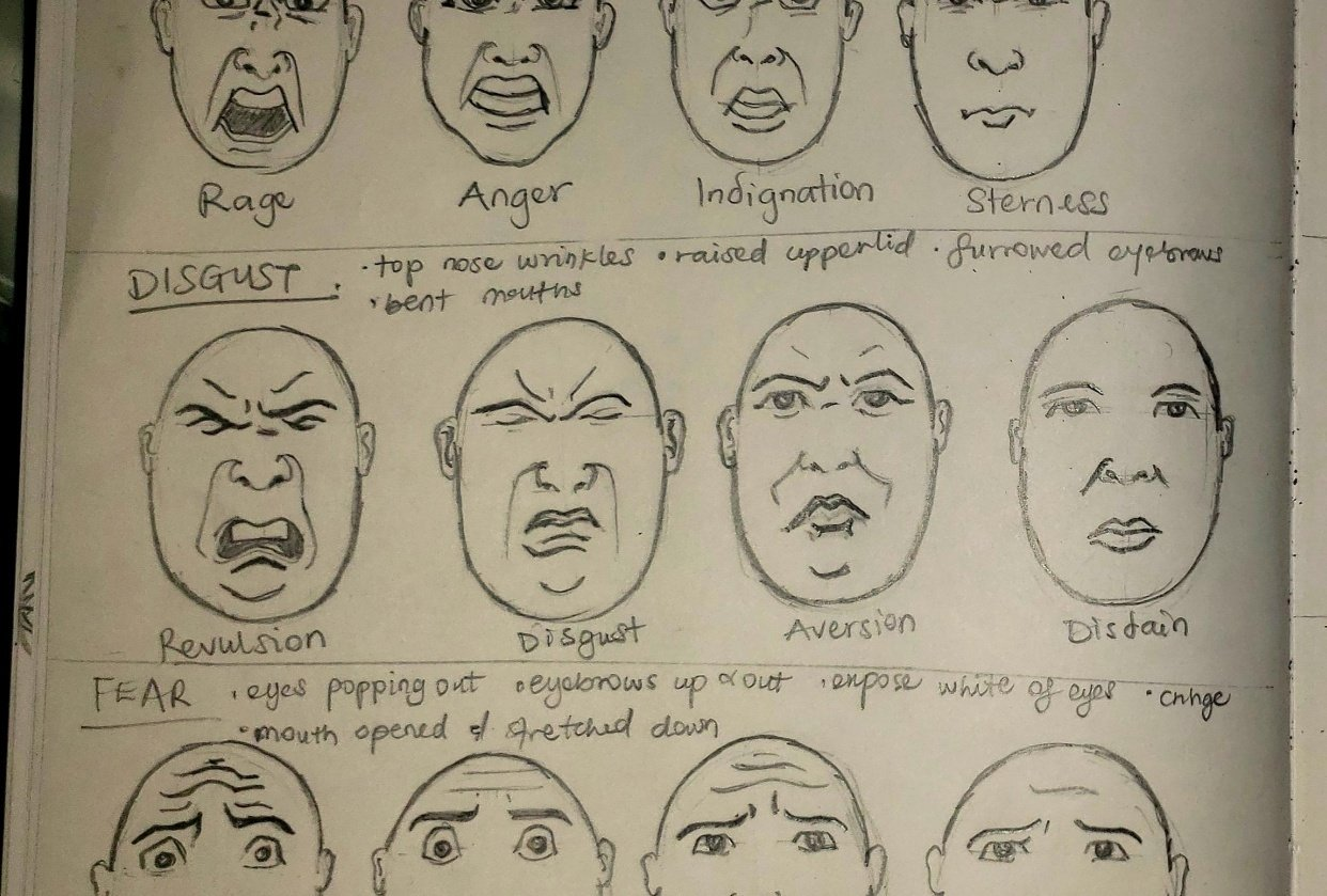 My Art of Facial Expression - student project