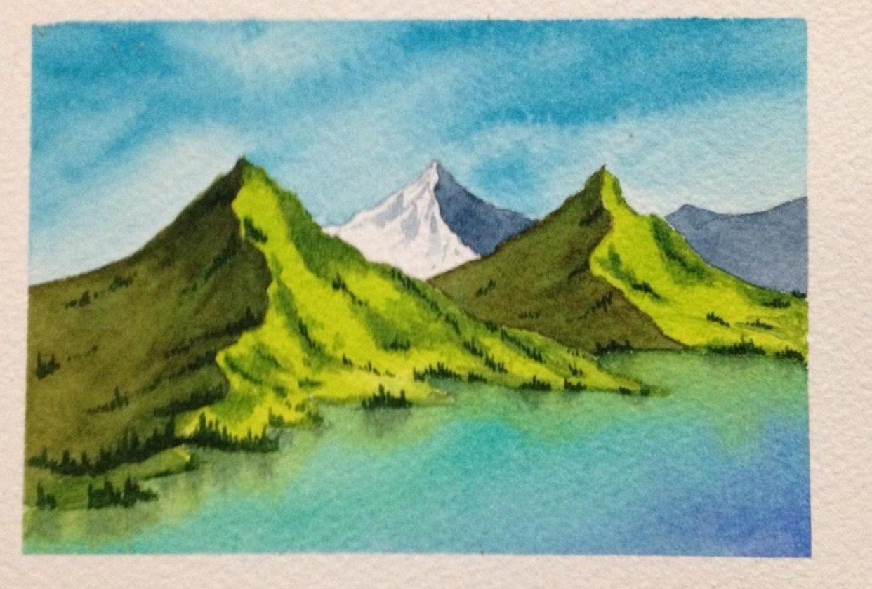 Watercolor Masterclass Landscapes - student project