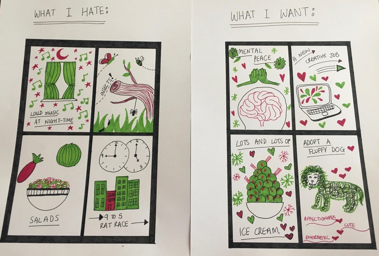 My Hates & Wants - student project
