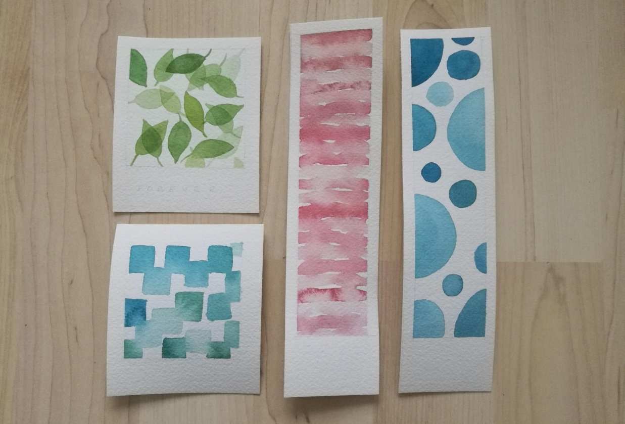 Watercolour patterns - student project