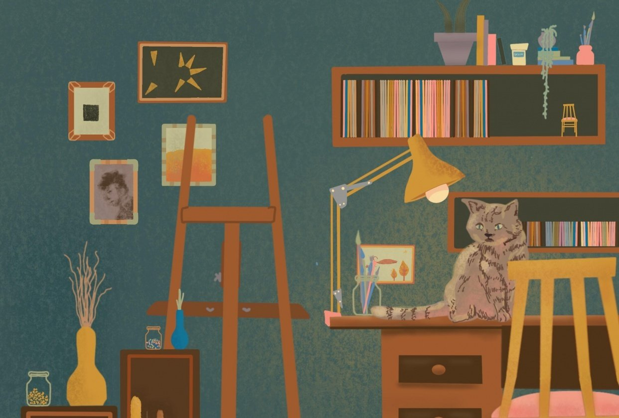 Kitty in my attic - student project