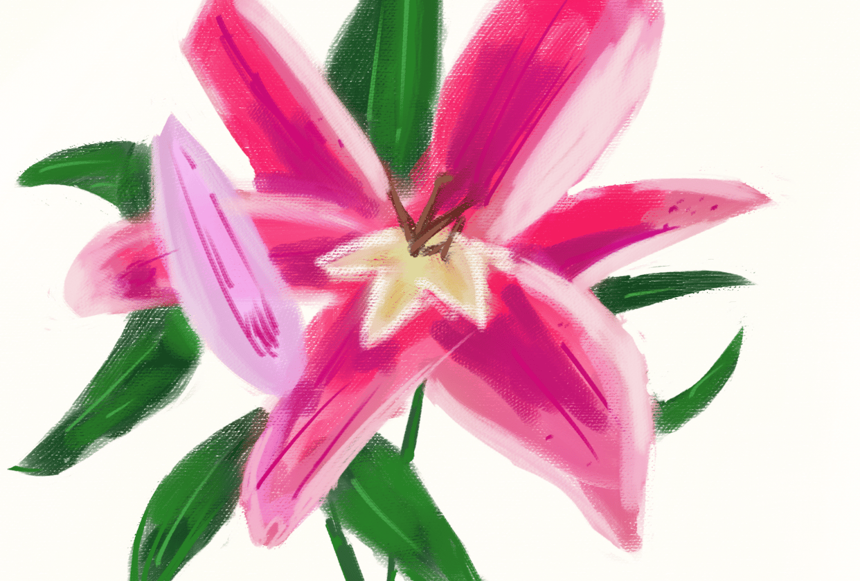 Painterly Flower - student project