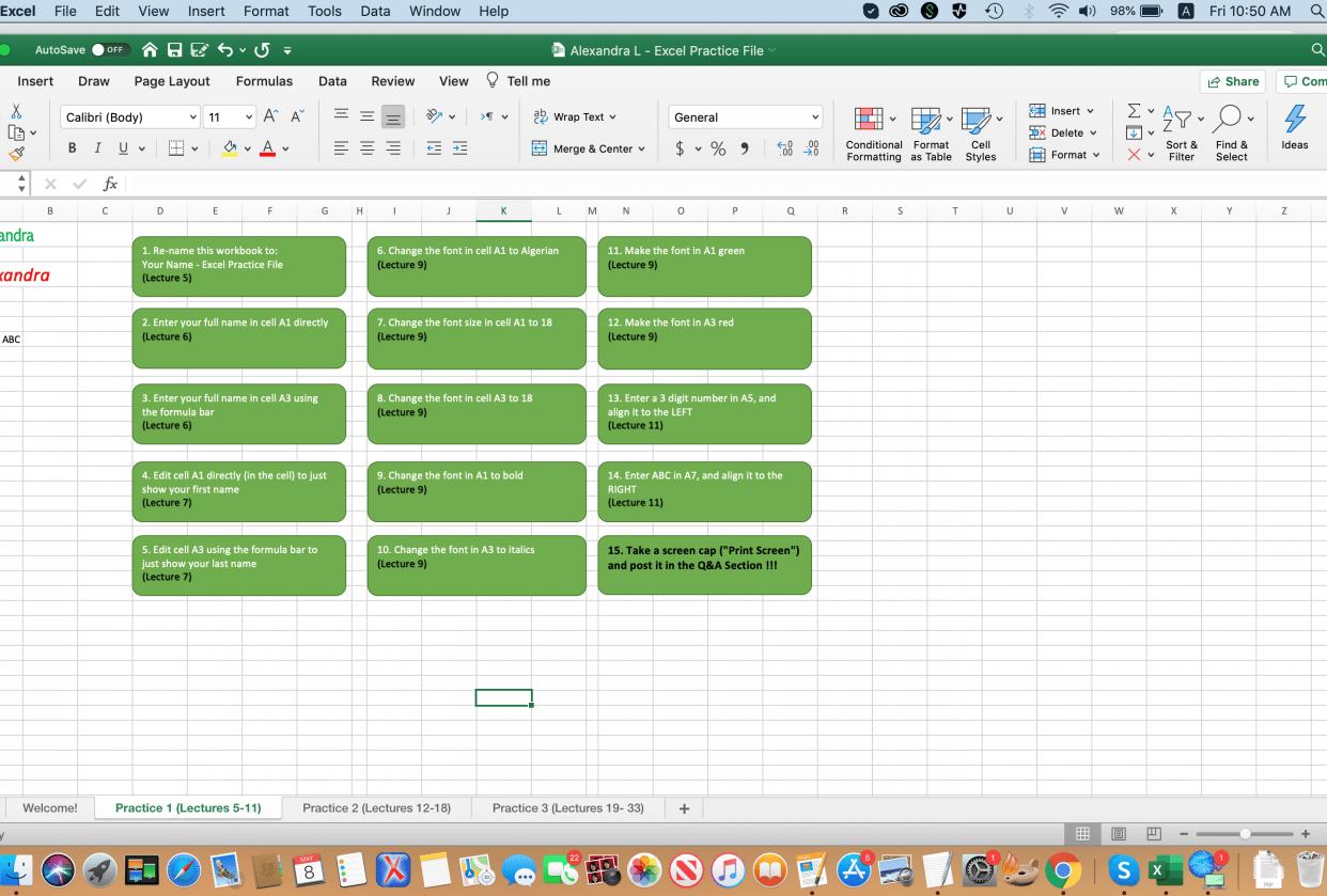 Practice Workbook - student project