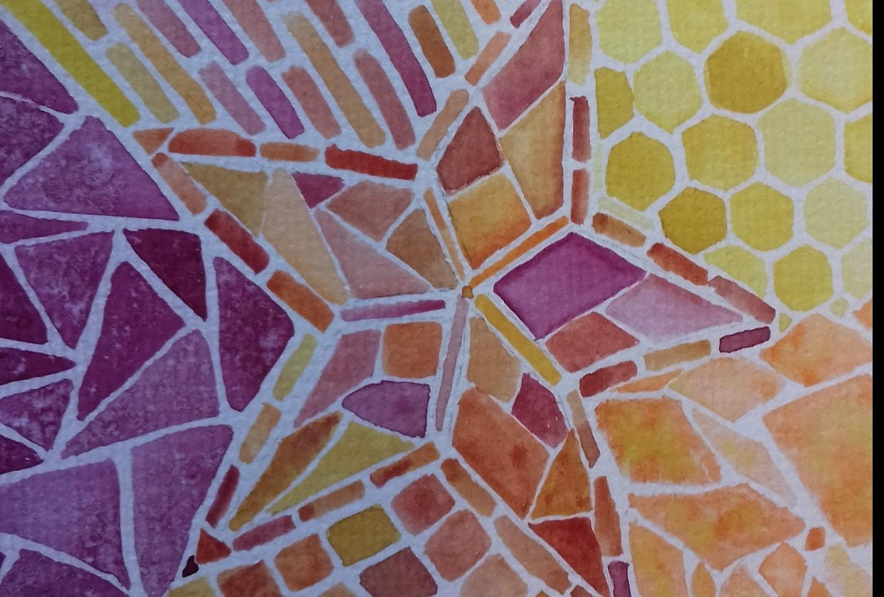 Abstract mosaic - student project