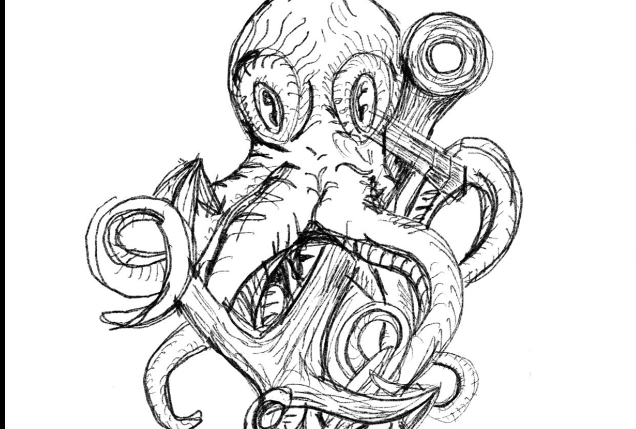 upside down octopus - student project