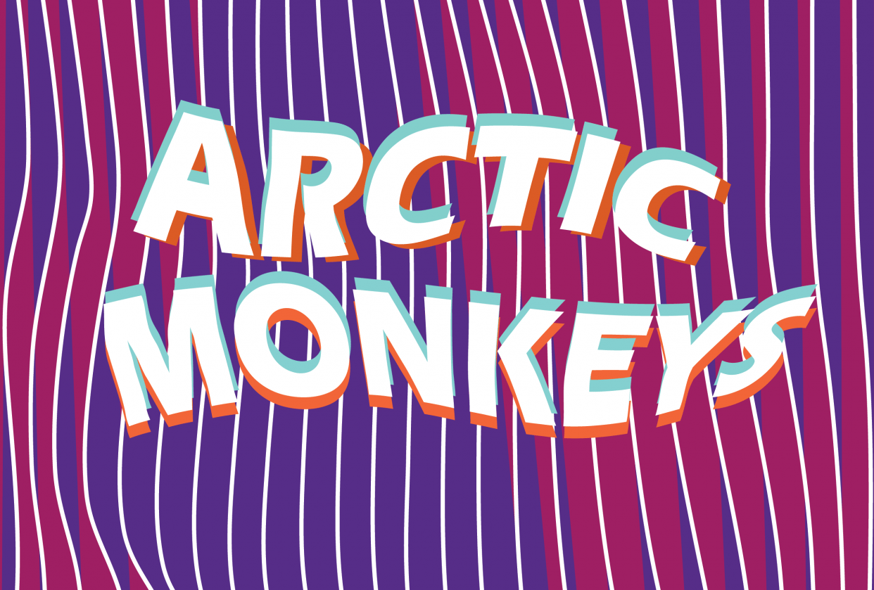 Arctic Monkeys poster - student project