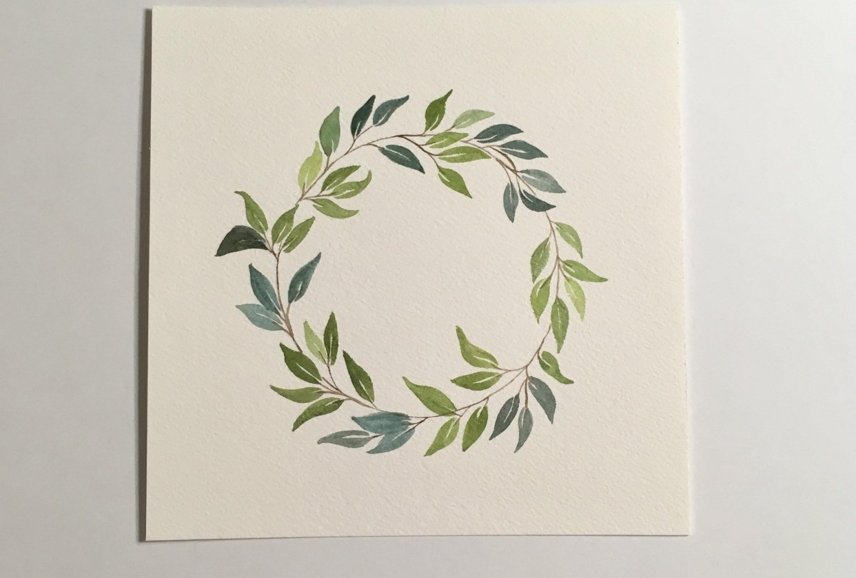 Leaf Wreath - student project