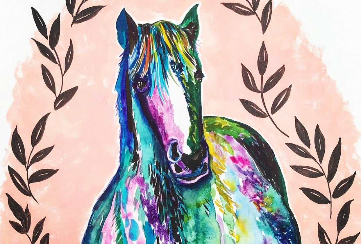 Colorful horse! - student project