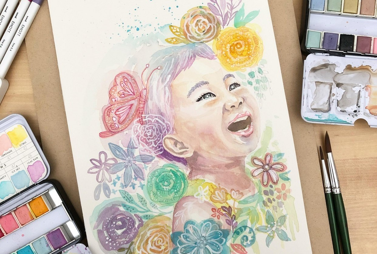 whimsical portrait - student project
