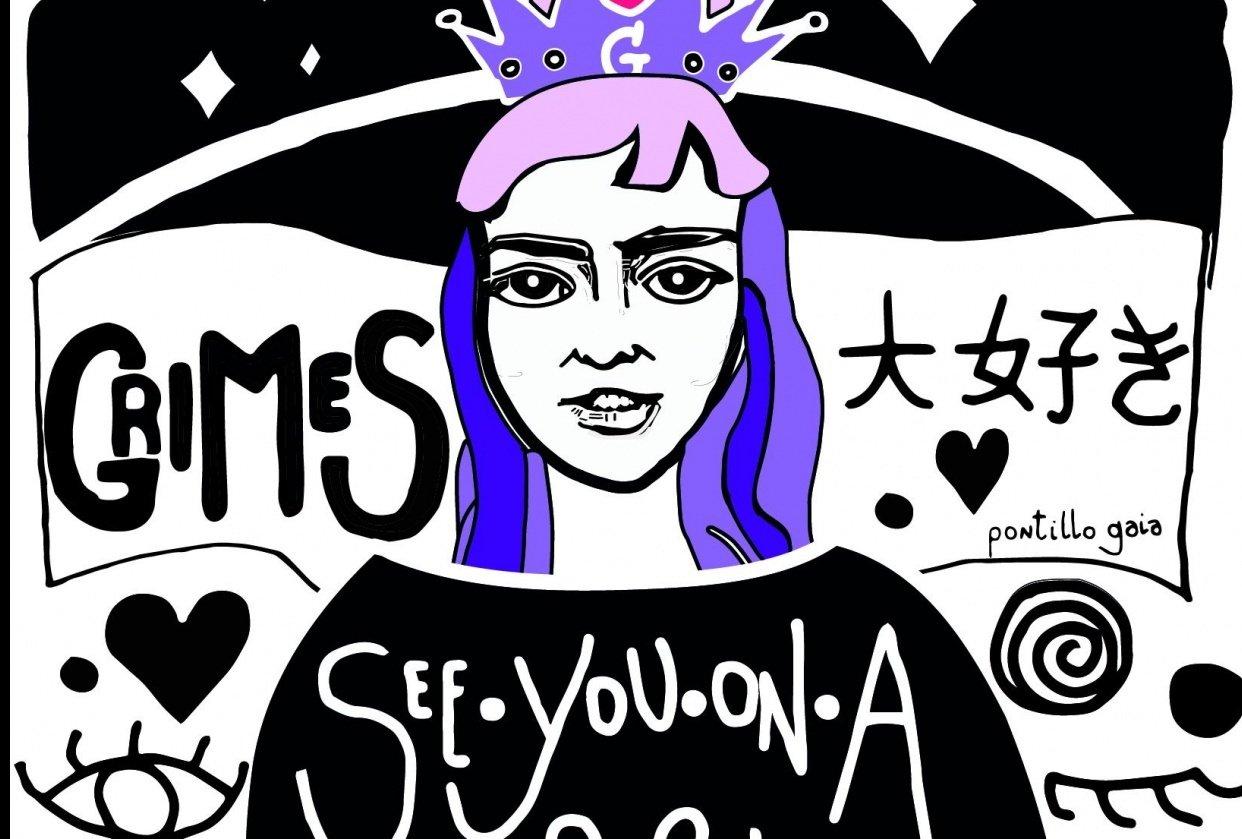 Grimes Illustration ( Stylized Portrait ) - student project