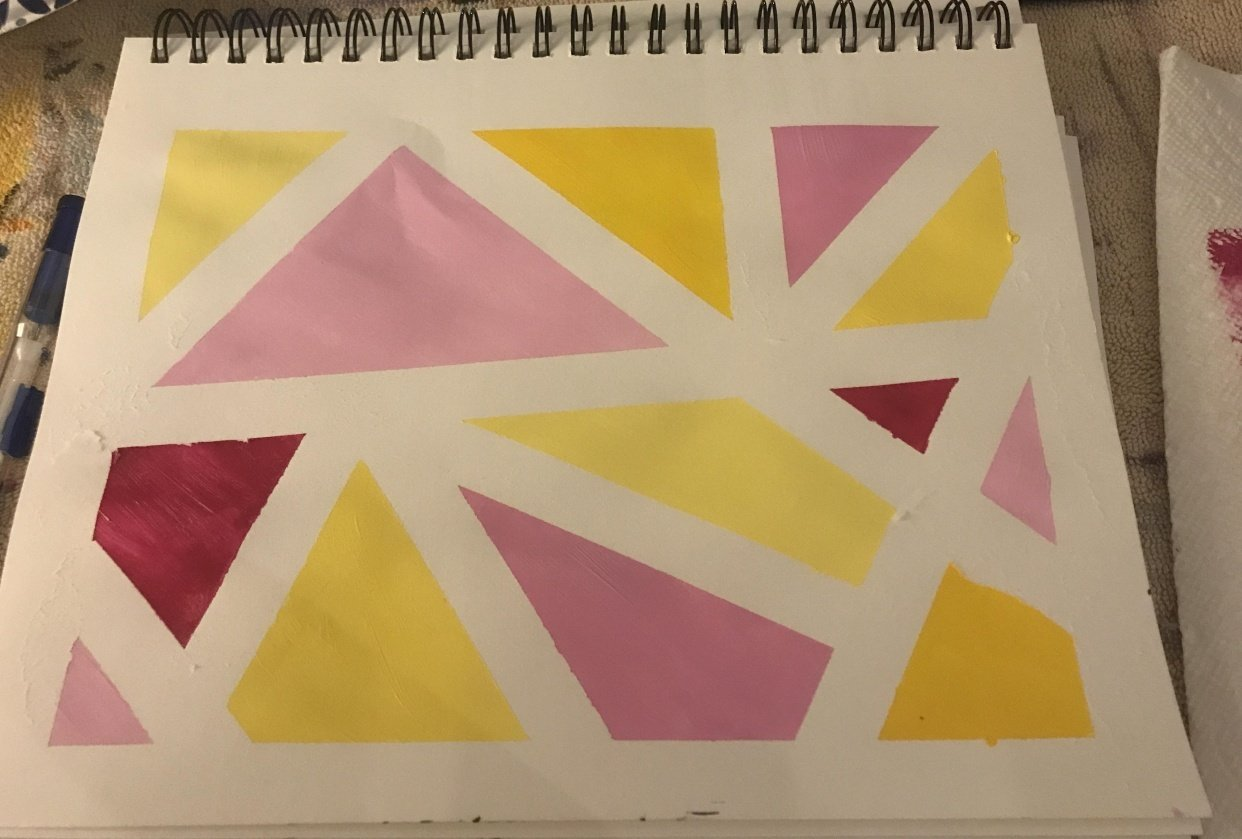 Yellow and pink - student project