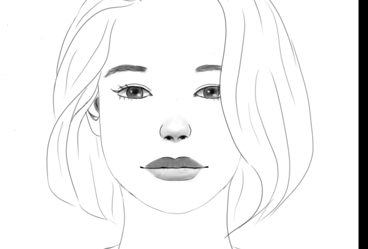 Female character practice - student project