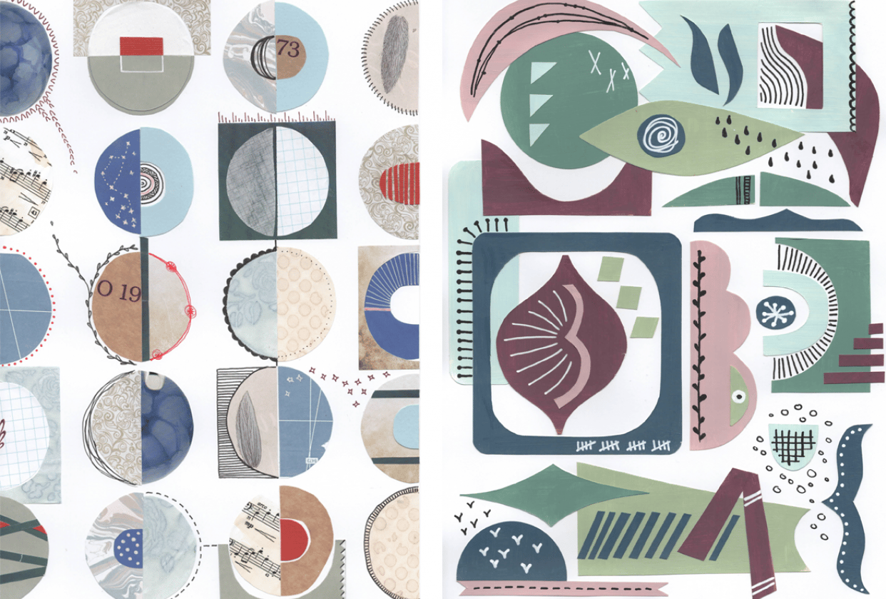 Collage & Go: circles & doodles - student project